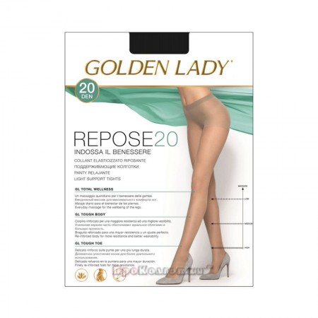 Rajstopy Golden Lady Repose 20 DEN Nero